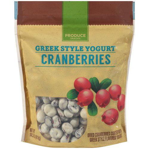 Produce Snacks Greek Style Yogurt Cranberries, 14.5 Oz.