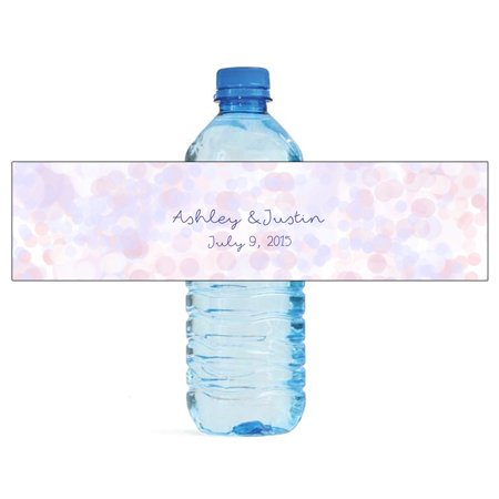 Wedding Water Bottle Labels.100 Soft Bokeh Background Wedding Water Bottle Labels Engagement Party 8 X2