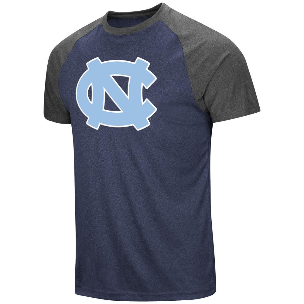 Men's North Carolina Tarheels UNC T-Shirt The Heat Raglan Tee Shirt