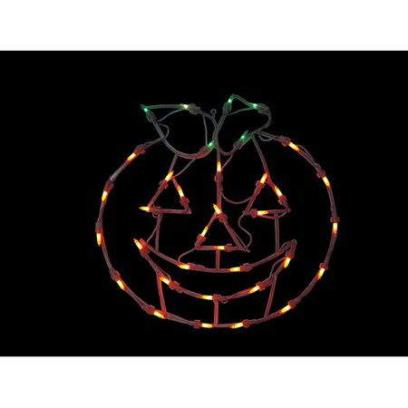The Holiday Aisle 14'' Pumpkin Window Silhouette Decoration Lighted Display