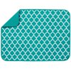 S&T XL Reversible Microfiber Dish Drying Mat - Teal Trellis - 18  x 24
