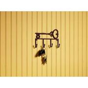 Antique Brown Key Hook Rack