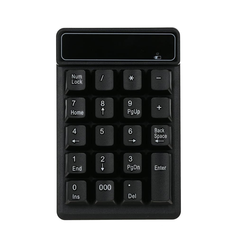 Numeric Keypad 2.4G Wireless Keyboard Mini Portable 19 Keys Number Pad Financial Accounting Keypad with USB Receiver Wireless