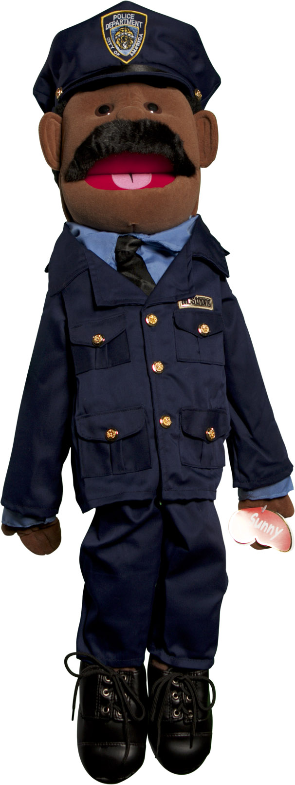 Sunny Toys GS4308B 28 In. Ethnic Dad Policeman, Full Body Puppet by Sunny Toys