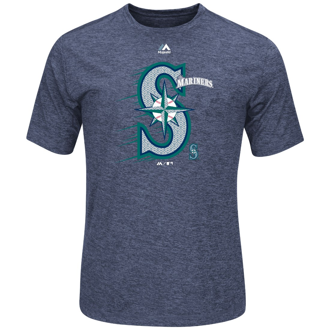 "Seattle Mariners Majestic MLB ""Far Beyond"" Cool Base Heathered Men's T-Shirt by MAJESTIC LSG"