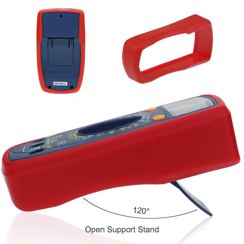 Astroai multimètre numérique Ohm Volt Amp et diode testeur de tension Meter Avec LCD