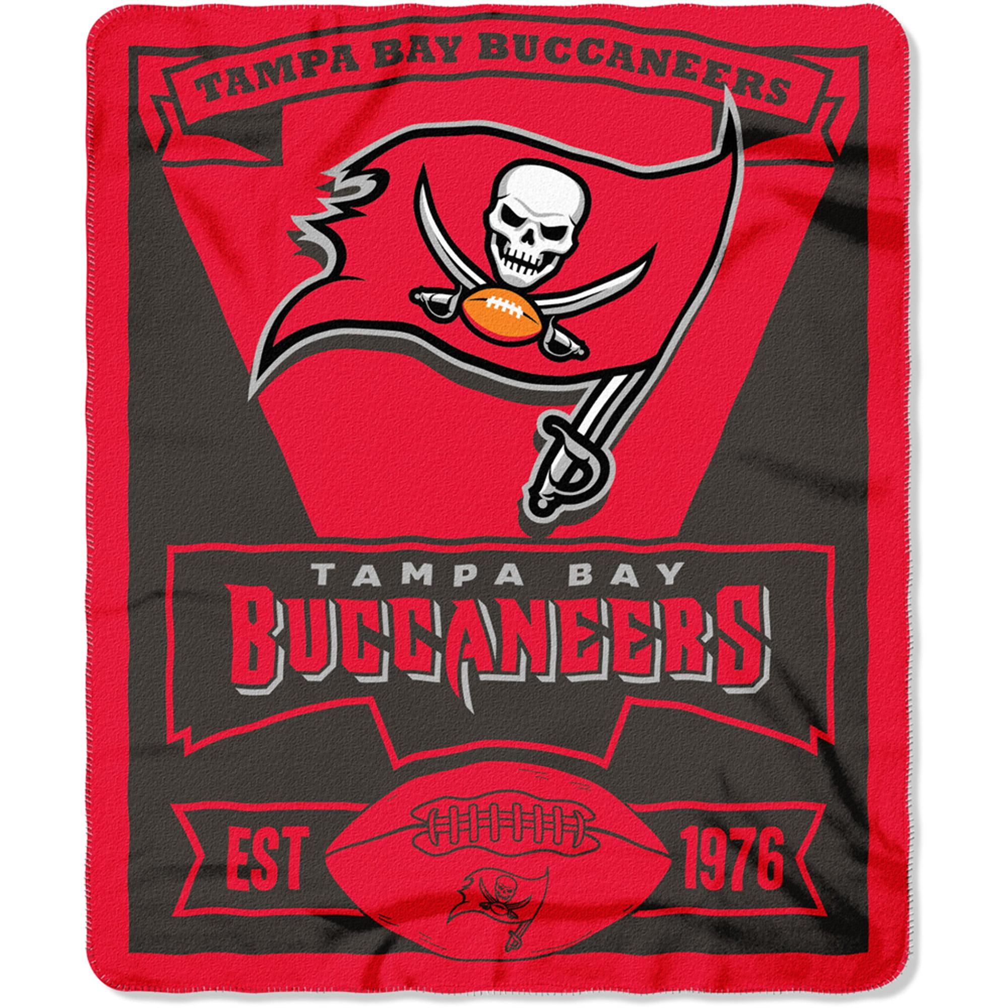 """NFL Tampa Bay Buccaneers 50"""" x 60"""" Fleece Throw"""