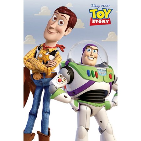 "Toy Story - Disney / Pixar Movie Poster / Print (Buzz Lightyear & Woody) (Size: 24"" x 36"")"