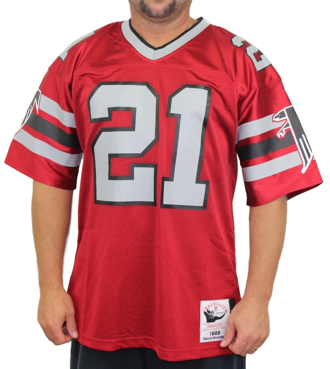 Deion Sanders Atlanta Falcons Mitchell & Ness Authentic 1989 Red NFL Jersey
