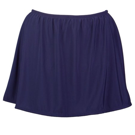 Plus Size Swim Skirt w/ Built in Panty - Available in 4 COLORS - 32W / Navy