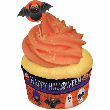 Cupcake Liners and Picks Halloween Decoration