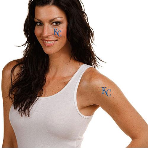 Kansas City Royals 4-Pack Temporary Tattoos - No Size