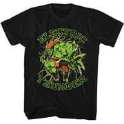 Street Fighter Men's  Electric Thunder Slim Fit T-shirt Black