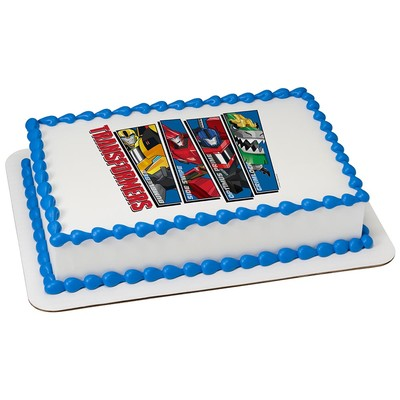Transformers Edible Icing Image For  Sheet Cake  WalmartCom