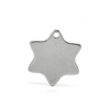 20pcs Stainless Steel Star Charms Pendants Stamping Blanks Findings 20x18mm