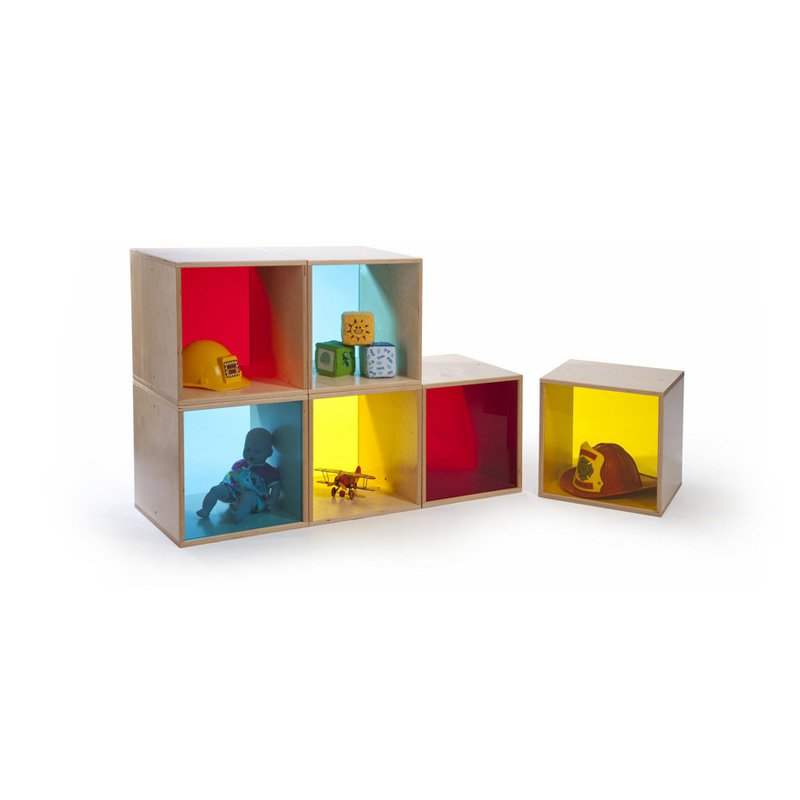 Cube Storage in Yellow