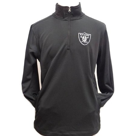(Oakland Raiders Synergy Half -Zip Pullover Jacket)