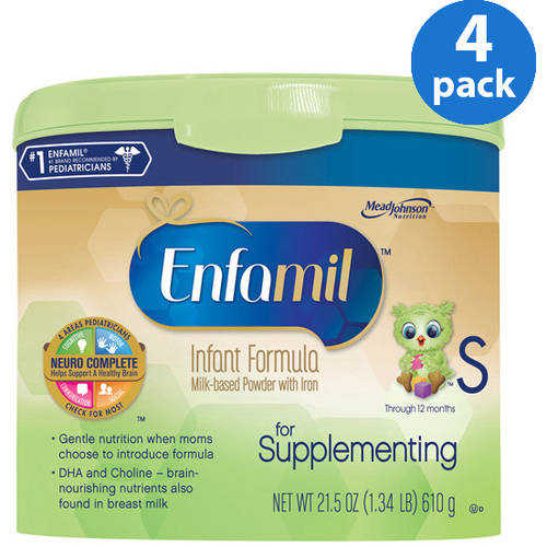 Enfamil for Supplementing baby formula ��� 21.5 oz Powder in Reusable Tub, Pack of 4