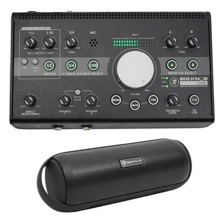 Mackie Big Knob Studio 3X2 Monitor Controller 96Khz Usb I O Bluetooth Speaker