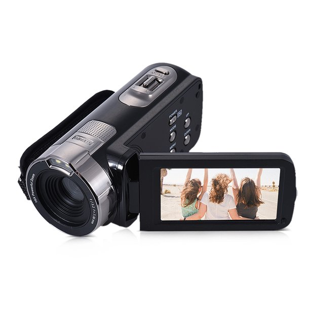 Hdv 302p 3 0in Lcd Screen Full Hd 1080p 15fps 16x Digital Zoom Portable Digital Video Camera Camcorder Walmart Com Walmart Com