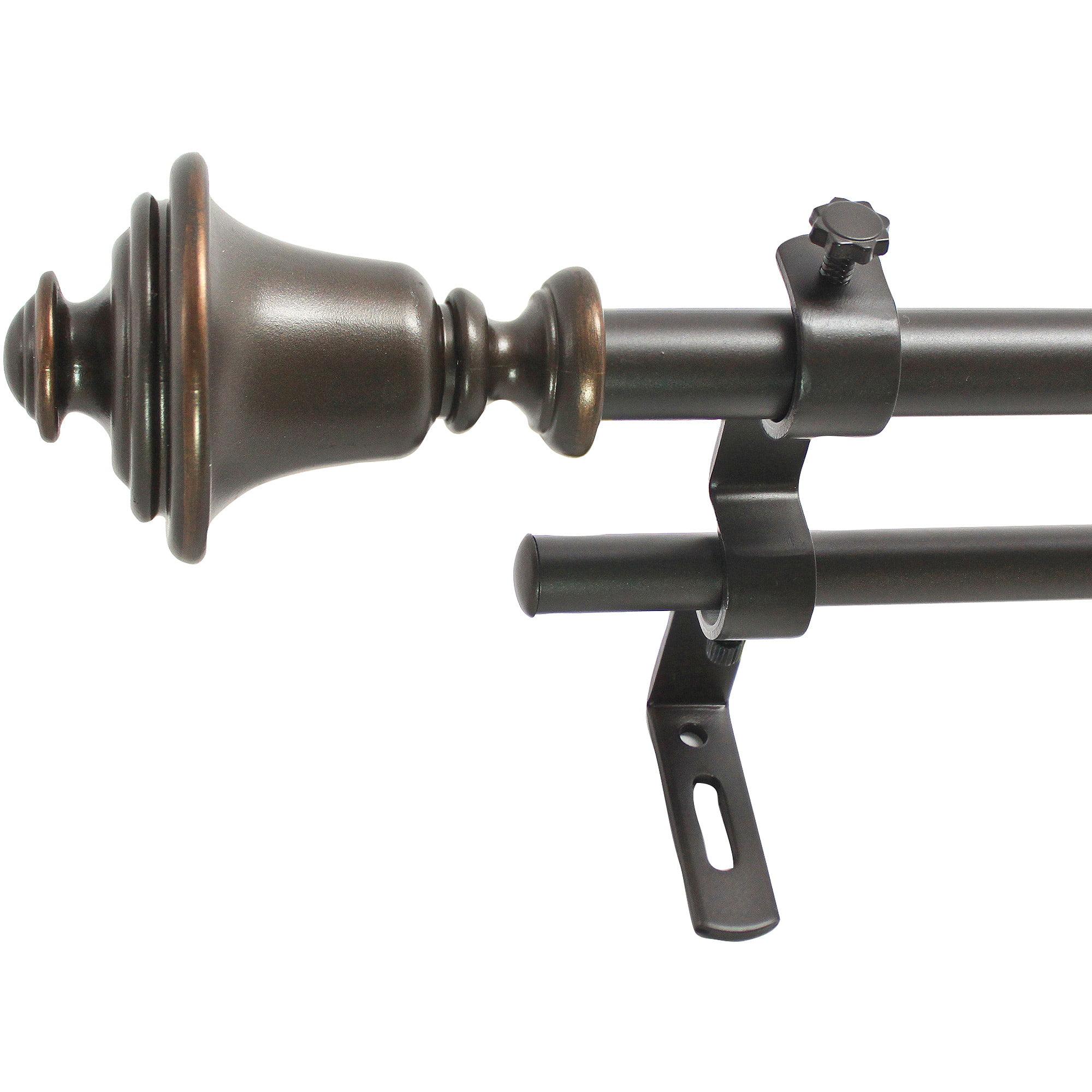 "Montevilla 5/8"" Bell Double Drapery Rod Set"