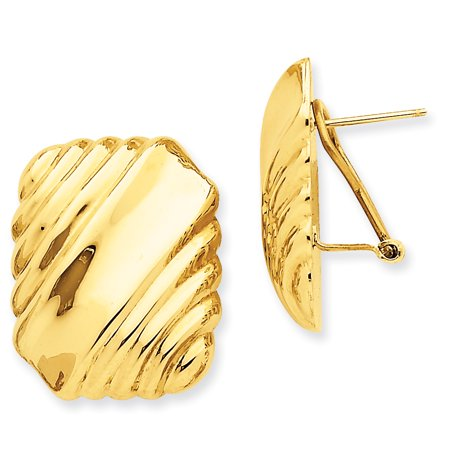 Gold Omega Post Earrings - 14kt Yellow Gold Omega Post Stud Ball Button Earrings Fine Jewelry Ideal Gifts For Women Gift Set From Heart