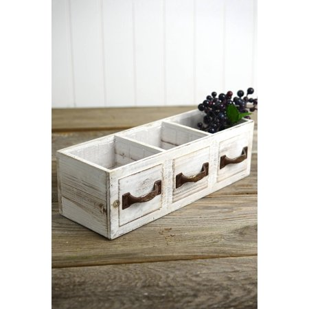 Richland Wood Drawer Planter Box Drawer 3 Compartments 13