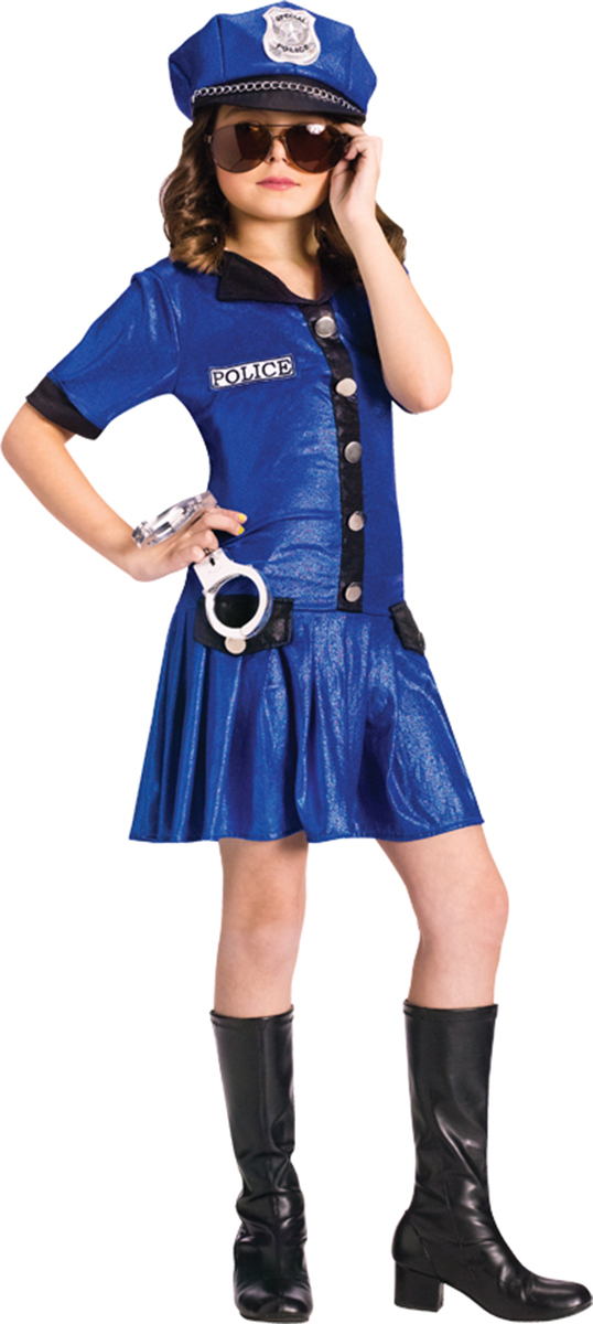 Morris costumes FW110752LG Police Girl Child 12-14 by Morris Cotumes