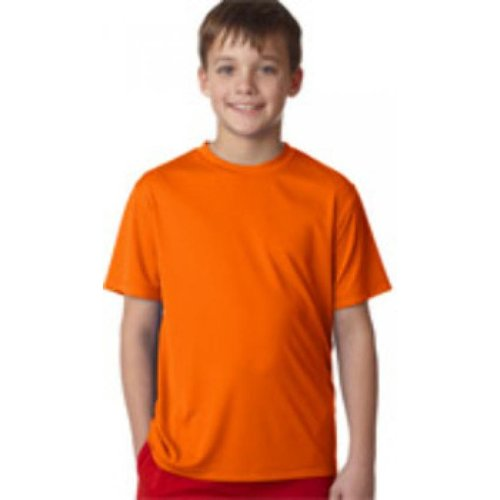 Hanes 1418260 Youth Cool DRI R Performance T-Shirt Safety Orange M