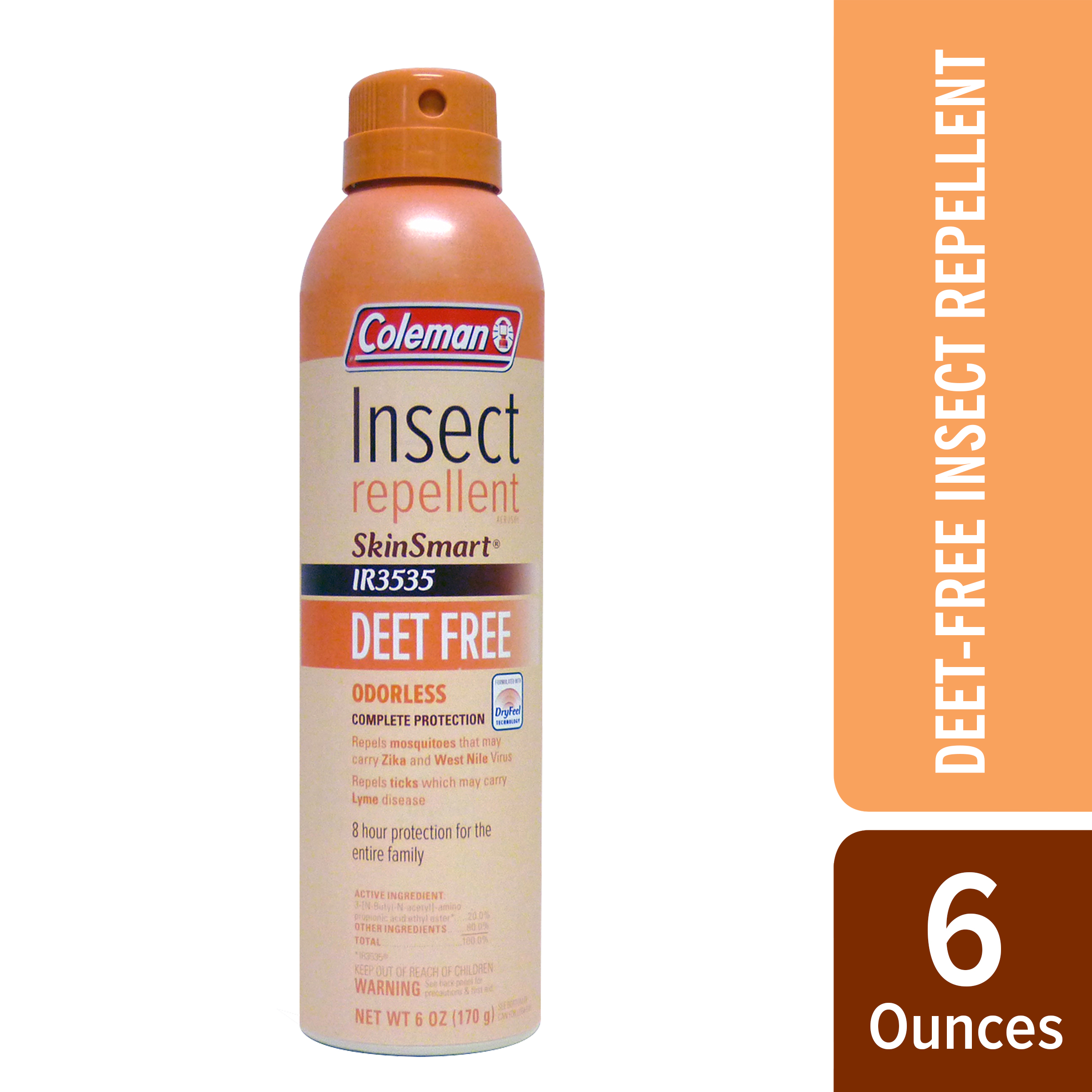Coleman Deet-Free Skin Smart Insect Repellent, 6 Oz