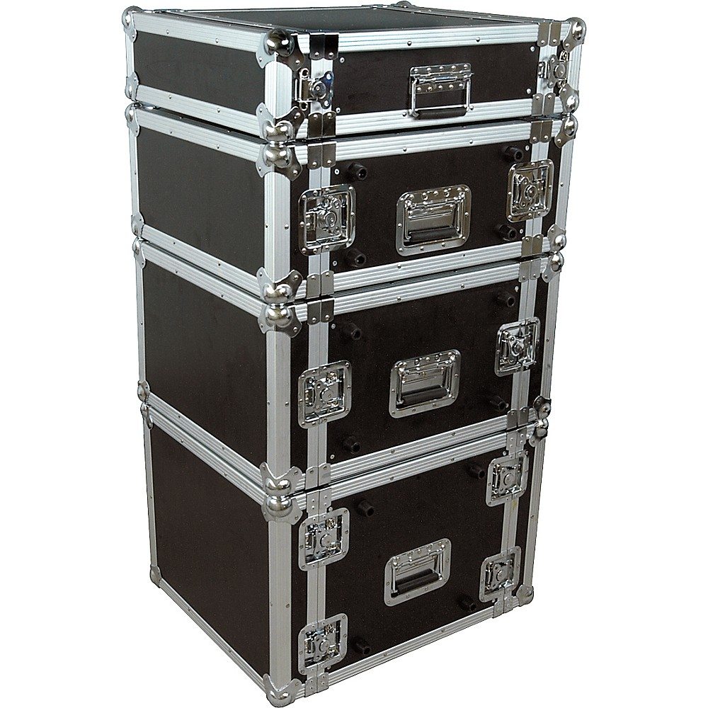 Musician's Gear Rack Flight Case 6 Space Black