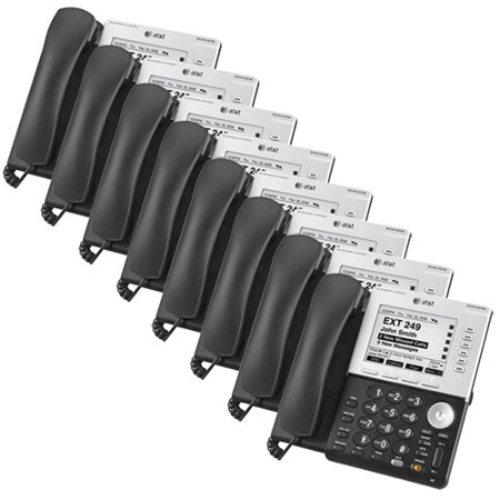 AT&T SB67035 (8 Pack) VoIP Corded Phone w/ DECT 6.0 Technology