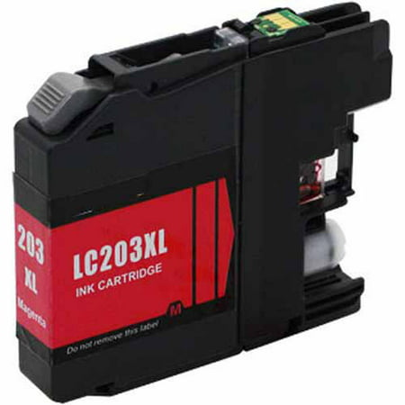 (Universal Inkjet Compatible Cartridge for Brother LC203M Cartridge, High-Yield Magenta)