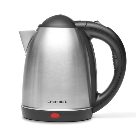 Chefman RJ11-17 1.7 Liter/1.8 Quart High Grade Stainless Steel 360 Degree Rotating Rapid Boil Cordless Electric Kettle with Boil Dry Protection and Easy-check Water View (Best Kettle To Boil Water For Baby)