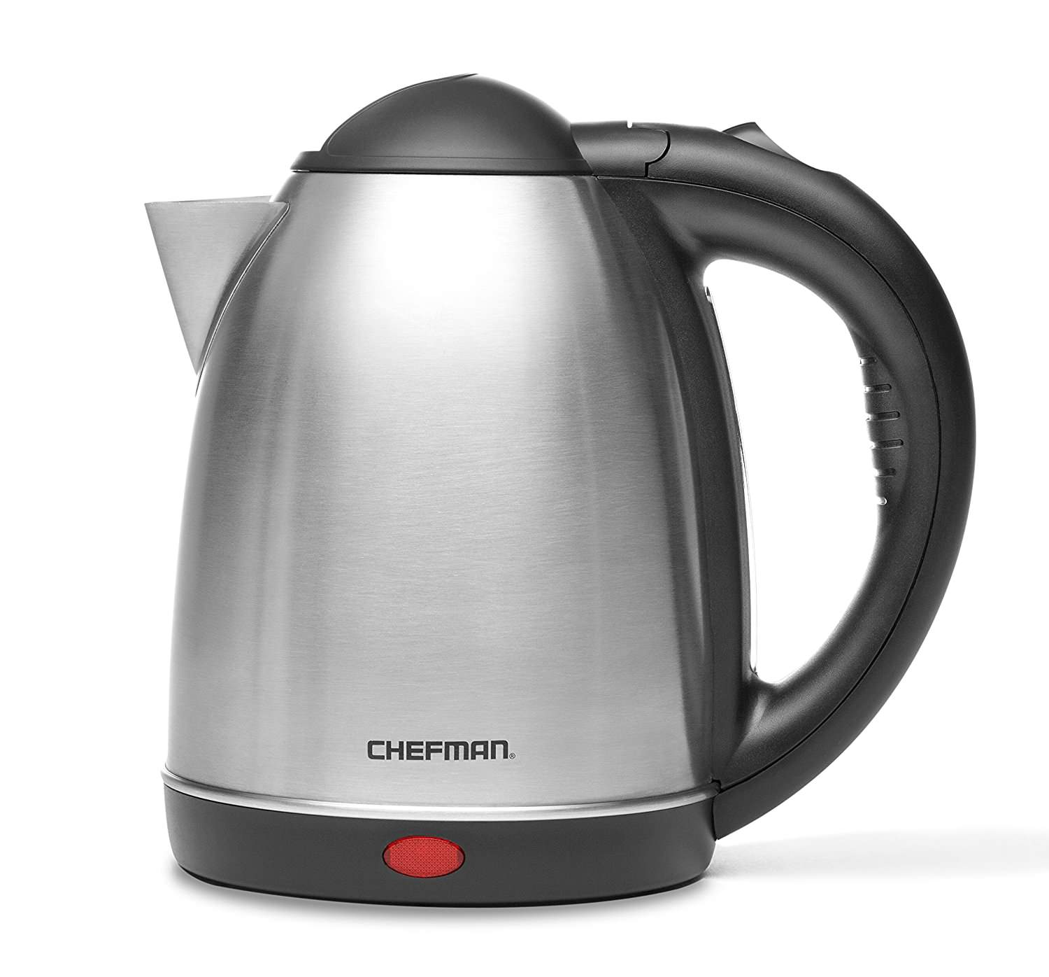 Chefman RJ11-17 1.7 Liter/1.8 Quart High Grade Stainless Steel 360 Degree Rotating Rapid Boil Cordless Electric Kettle with Boil Dry Protection and Easy-check Water View Window