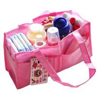 Mummy Bottle Storage Multifunctional Separate Nappy Maternity Bag Pink