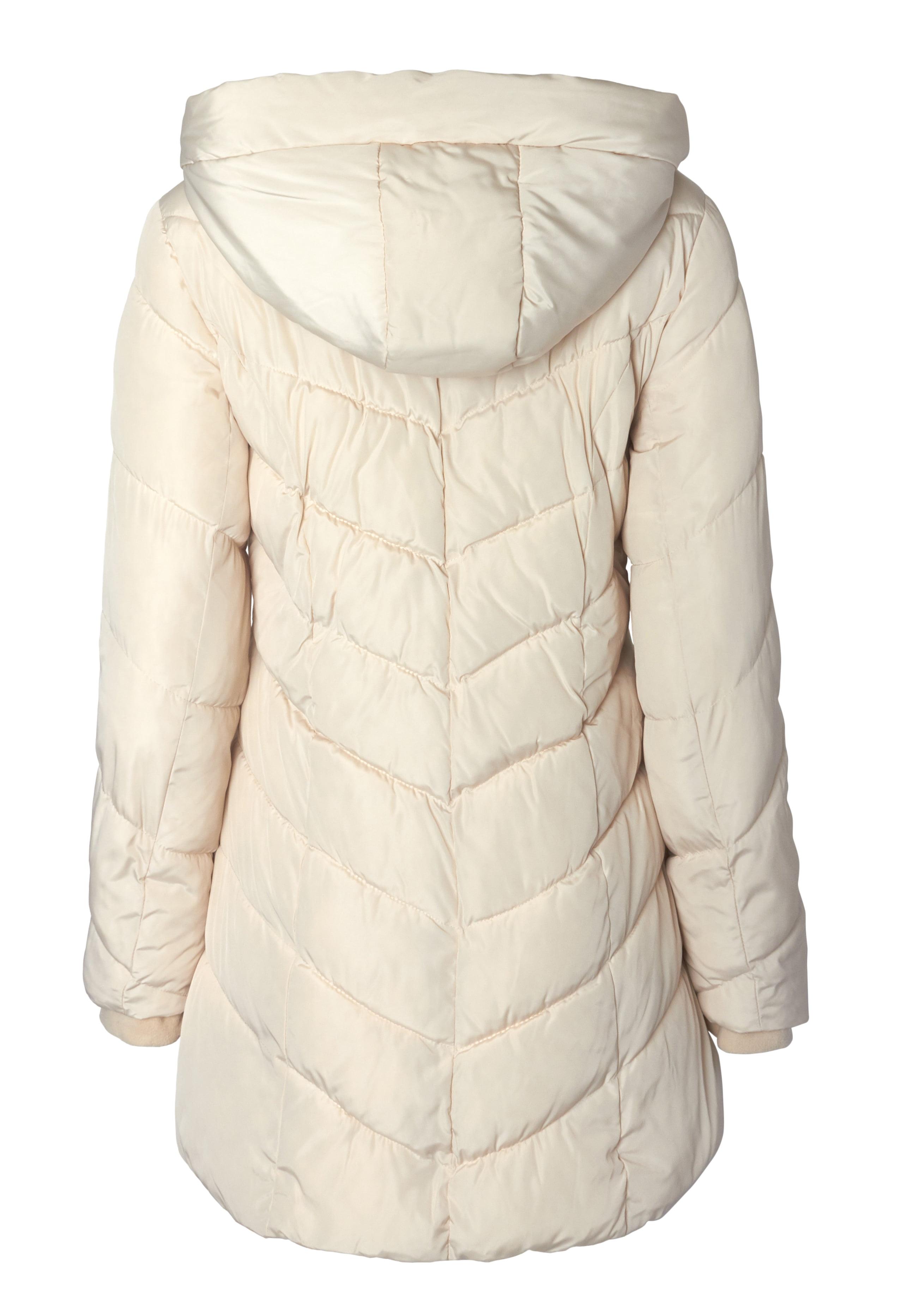 331639bfa65ce Sportoli - Sportoli Womens Winter Fleece Lined Chevron Quilted Puffer  Jacket Coat with Hood - Ivory (Size 3X ) - Walmart.com