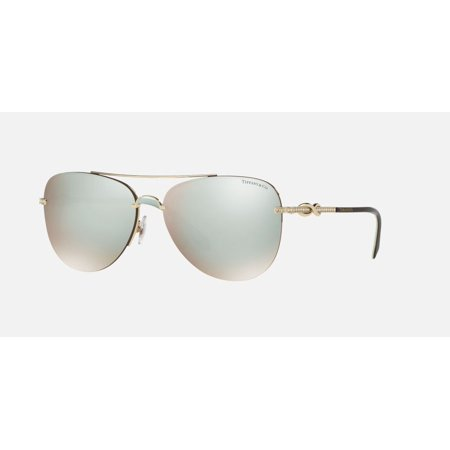 196dbd993ec2 Tiffany And Co. Women s Mirrored TF3054B-602164-59 Gold Aviator Sunglasses  - Walmart.com