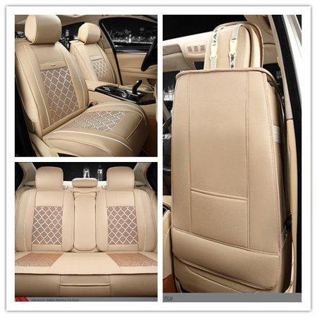 Excellent 10Pcs Pu Leather Ice Silk Auto Car Seat Covers Automotive Beatyapartments Chair Design Images Beatyapartmentscom