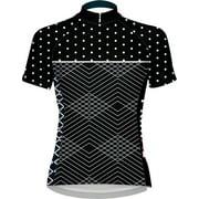 Primal Wear Polka Line Women's Cycling Jersey: Black/White , XL
