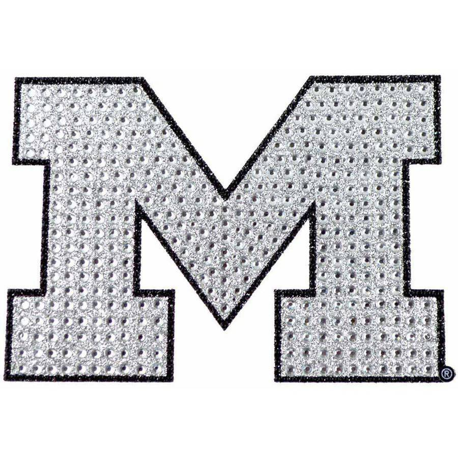 NCAA Michigan Bling Emblem