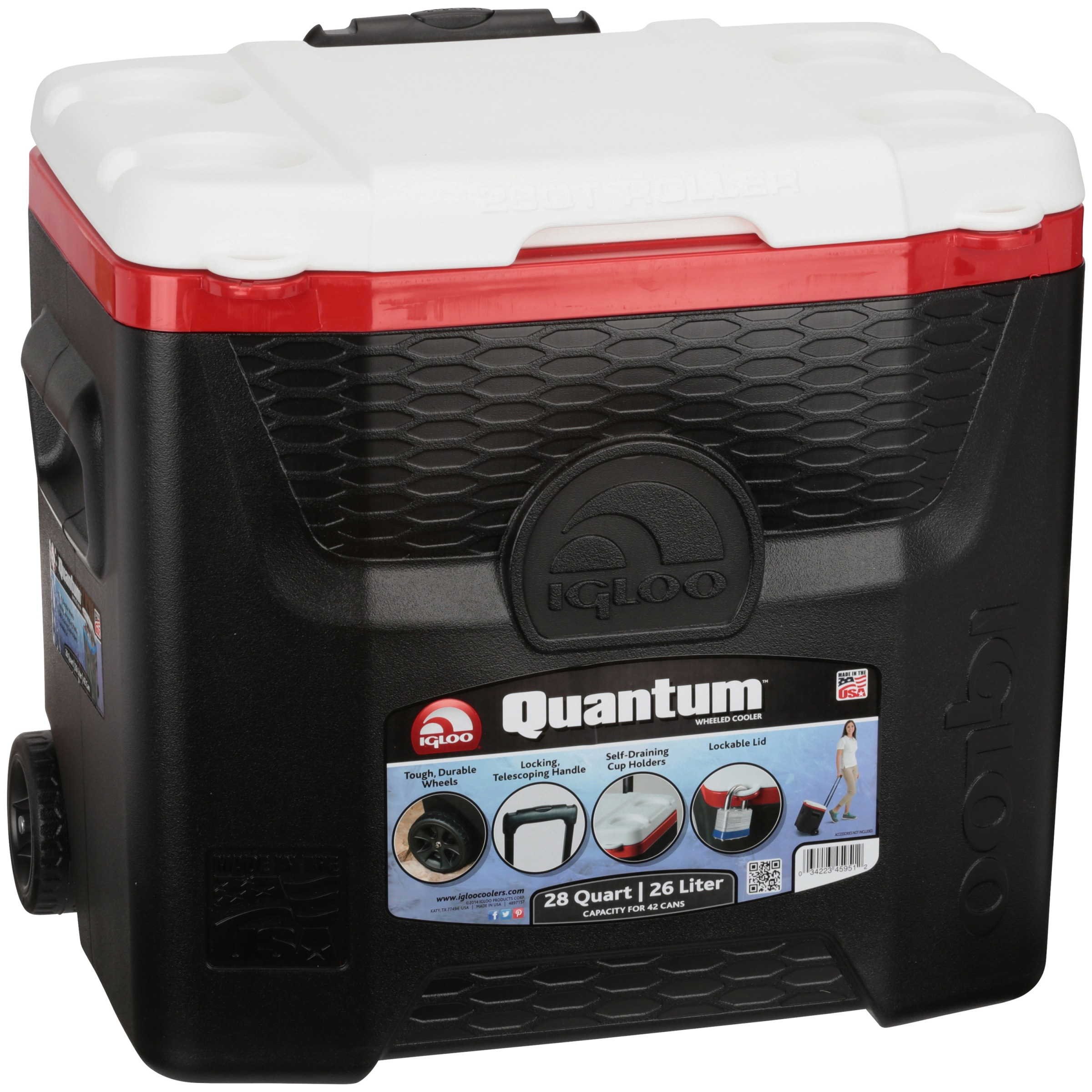 Igloo 28-Quart Quantum Wheeled Cooler