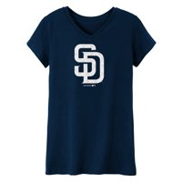 MLB San Diego PADRES TEE Short Sleeve Girls 50% Cotton 50% Polyester Team Color 7 - 16