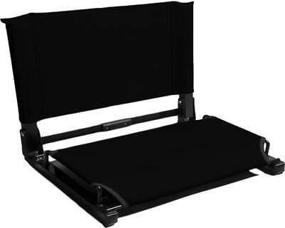 "Stadium Chair Bleacher Seat (WSC1), DELUXE MODEL (3"" wider), Black by"