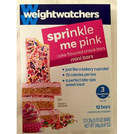 Weight Watchers Sprinkle Me Pink Mini Bars  12 Bars 0 70 Oz