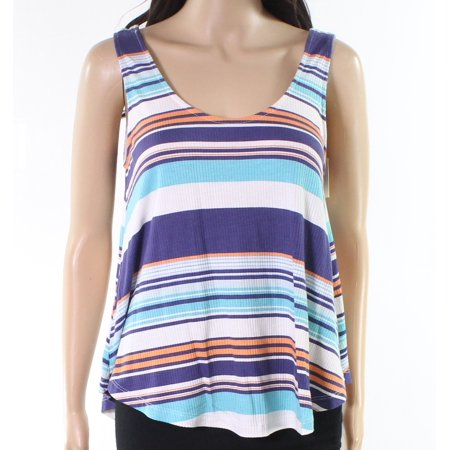 Good Luck Gem Womens Striped Scoop-Neck Knit - Knitting Gems