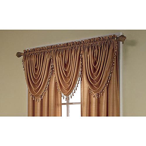Treasure Faux Silk Window Curtain Valance, 36x26