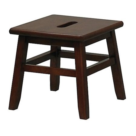 Cooking Essentials Stool - Porter Slotted Top Step Stool in Walnut Measures 12