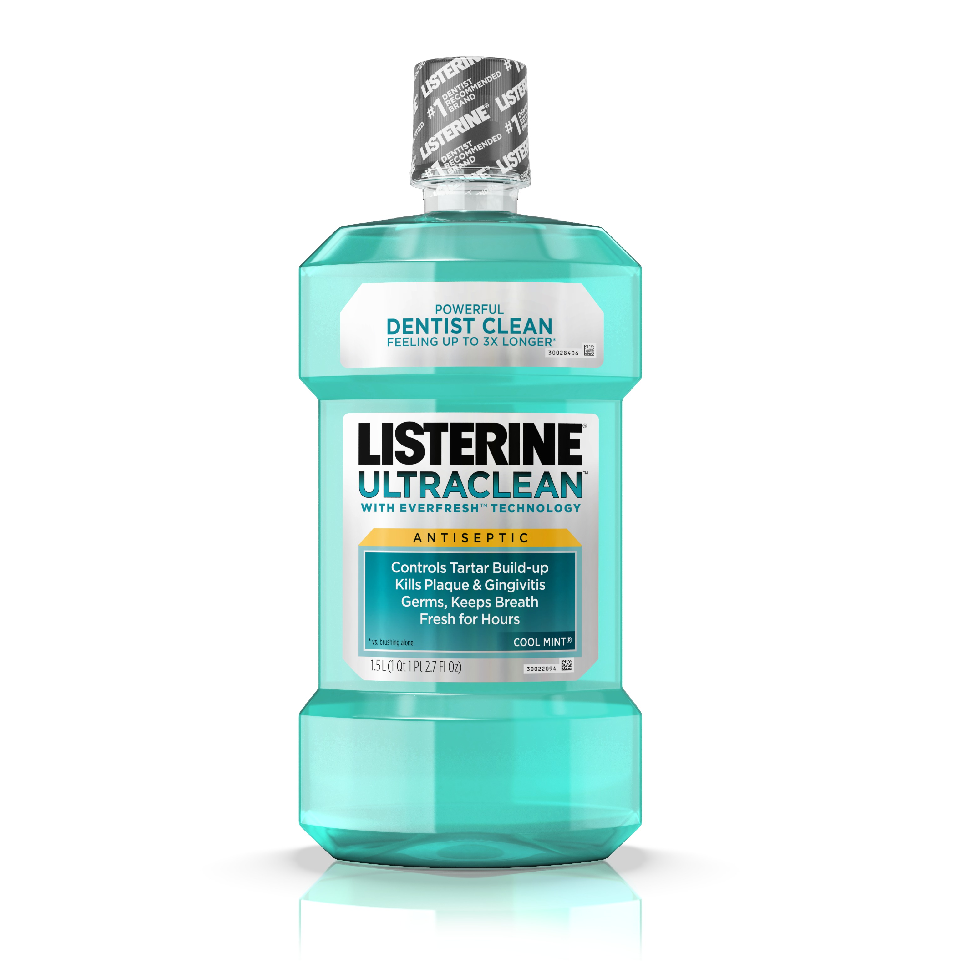 Listerine Ultraclean Oral Care Antiseptic Mouthwash, Cool Mint, 1.5l