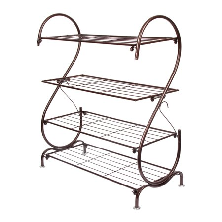 Iron Multi-layer Shoe Rack Storage Organizer Cabinet Multifunctional Metal Shoe Stand for Closet Bedroom & Entryway - Easy to Assemble - No Tools Required by LifeDecor ()